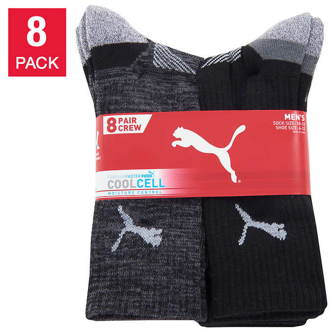 Puma Men's Crew Sock, 8-pa