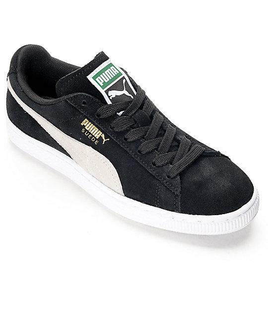 PUMA Suede Classic Black Shoes (Womens) | Zumi