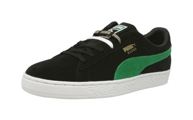 PUMA Suede Classic XL Black Green White Lace Sneakers Men Shoes .