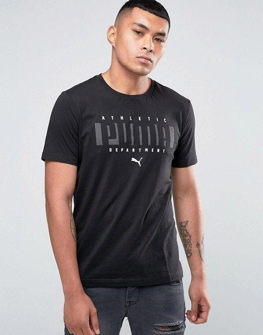 Puma | Puma Logo T-Shirt In Black 83833101 | Puma logo, Tshirt lo