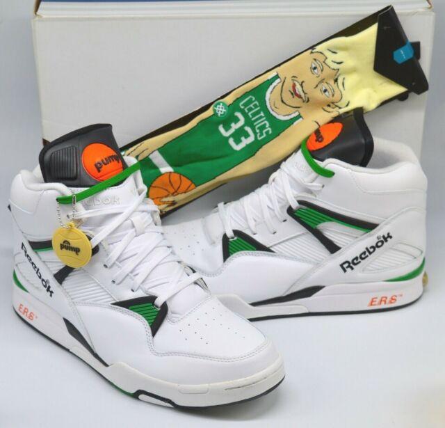 New Reebok Pump Omni Zone Boston Celtics White/Green Larry Bird .