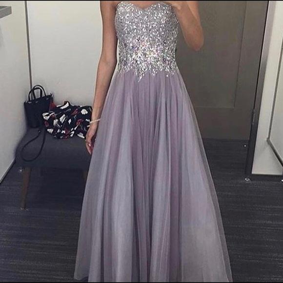 Dresses   Purple Prom Dress W Jeweled Bodice   Poshma