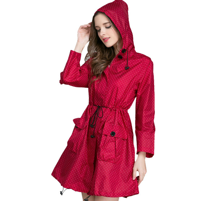 Long Raincoat Women Ladies Rain Coat 2019 Fashion Women's Rainwear .