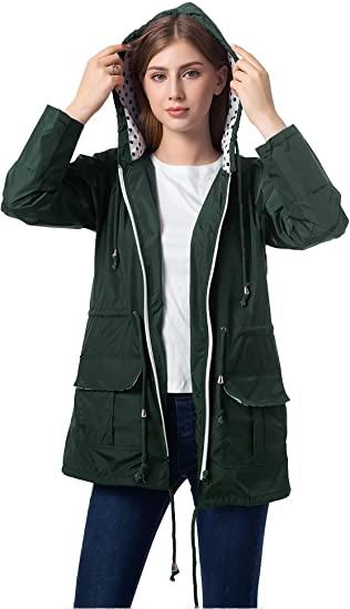 Amazon.com: Romanstii Waterproof Rain Jacket Active Outdoor .