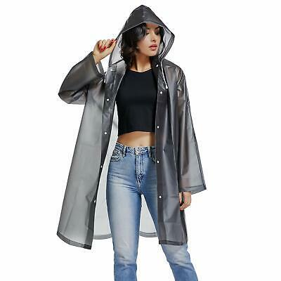 Uniquebella 清晰的EVA 雨衣女防水雨披风长款雨衣宾夕法尼亚州... | eB