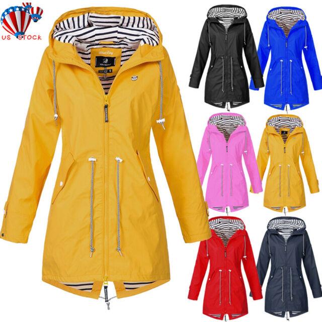 Mickymin Hooded Waterproof Jacket Softshell Raincoat Women .