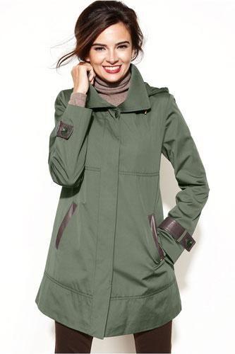 Sleek and stylish raincoats to help you weather the storm .