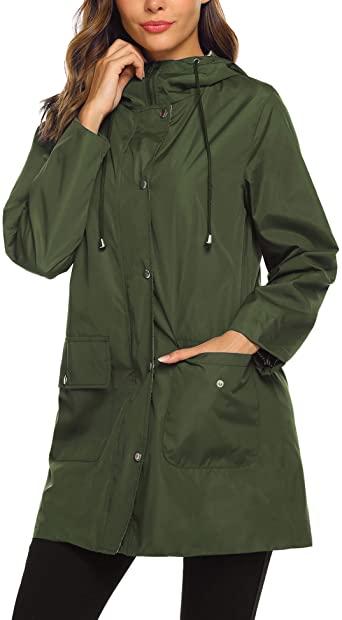 Amazon.com: SUNAELIA Rain Jacket Raincoat Women Waterproof .
