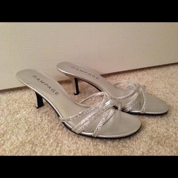 Rampage Shoes | Silver Kitten Heels | Poshma