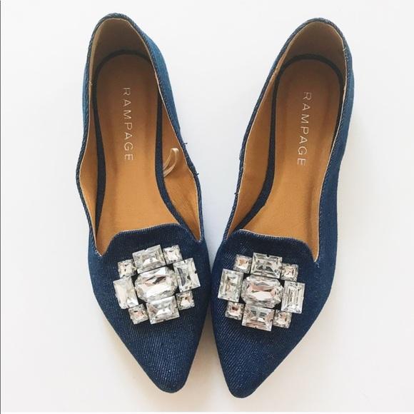 Rampage Shoes | Jeweled Flats | Poshma