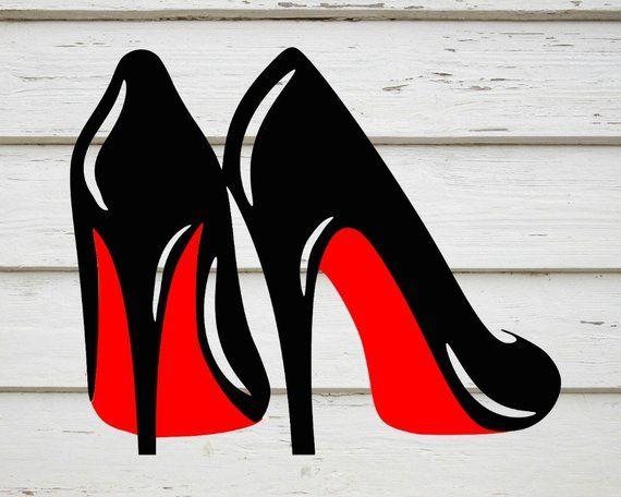 High heels svg stillettos svg louboutins svg digital download png .