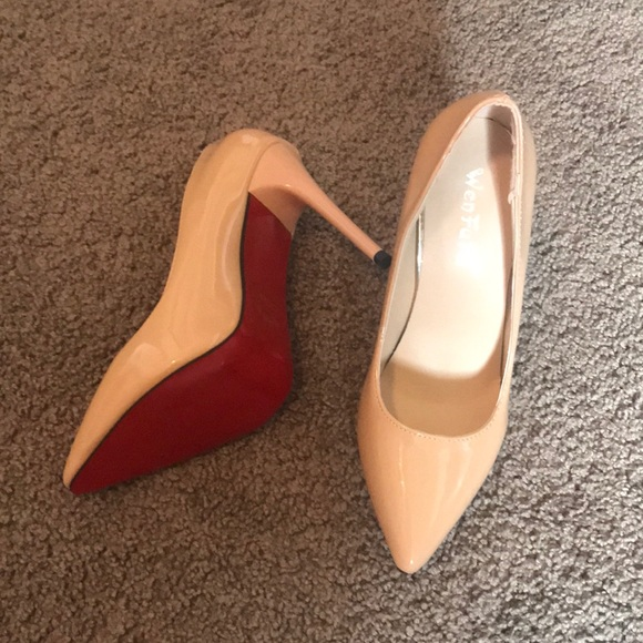 Shoes | Nude Red Bottom Heels | Poshma