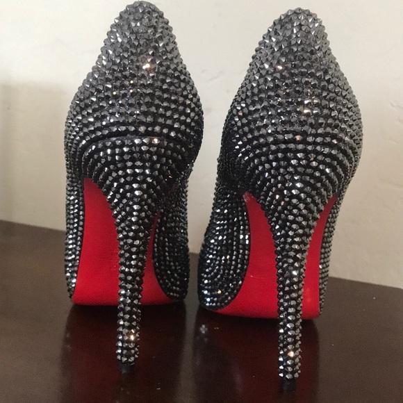 Claudio Milano Shoes | Crystal Red Bottom Heels | Poshma