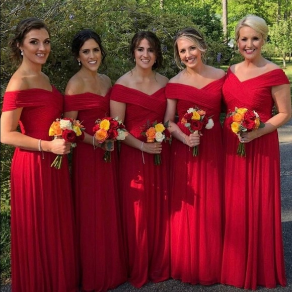 Jenny Yoo Dresses   Red Bridesmaid Dress   Poshma