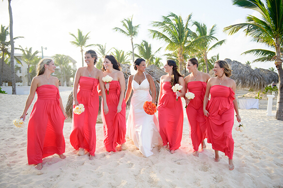 Red Bridesmaid Dresses That Fit You   Beach Themes Weddi