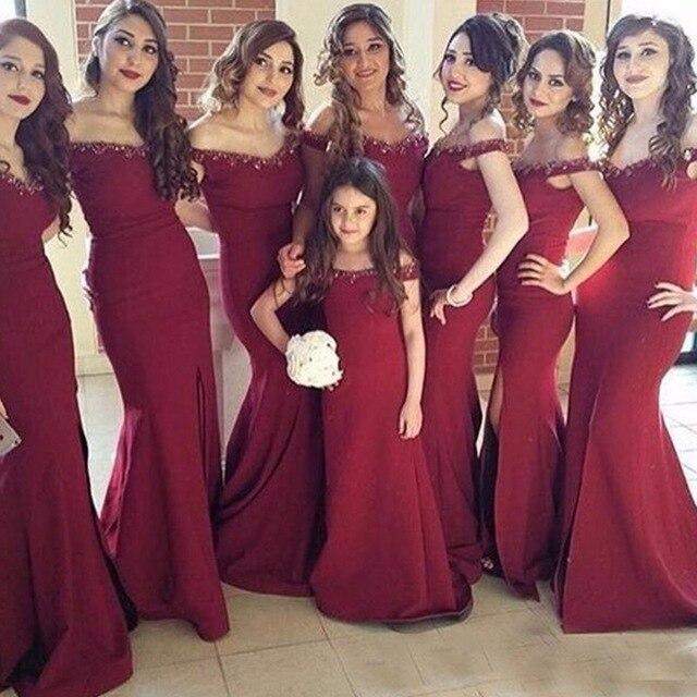 Maroon Red Bridesmaids Dresses   Weddings Dress
