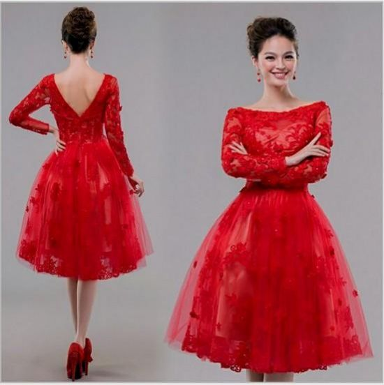 Red Cocktail Dresses with Sleeves – Fashion dress
