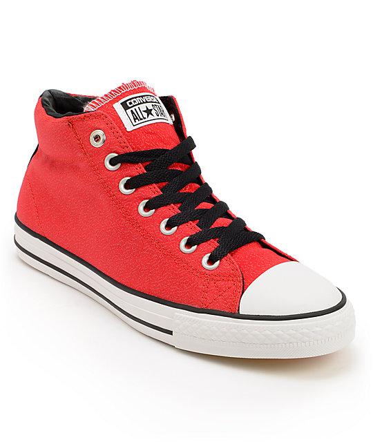 Converse x Santa Cruz CTS Mid Red, White, & Black Shoes | Zumi