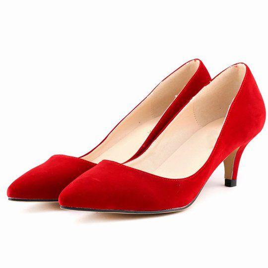 Women Elegant Low Heel Work Date Heels | Dress shoes womens, Heels .