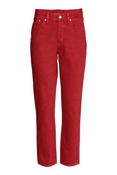 Vintage High Cropped Jeans - Red - Ladies | H&M