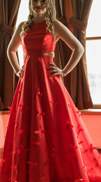 jcpenney Dresses | Red Prom Dress | Poshma