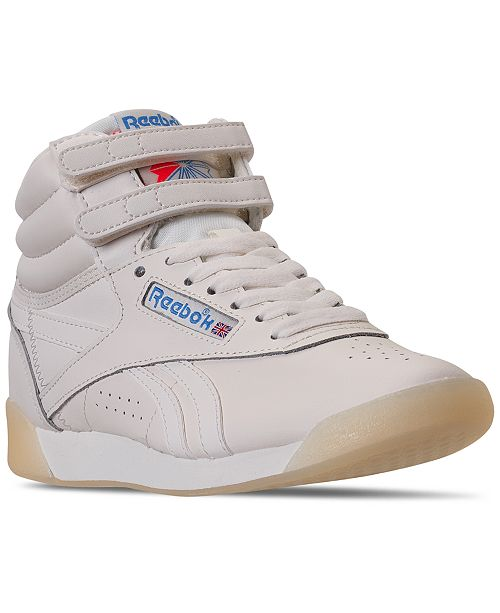 Reebok Women's Freestyle High Top Casual Sneakers from Finish .