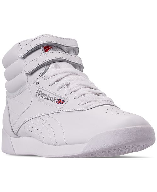 Reebok Women's Freestyle High Top Casual Sneakers from Finish Line .