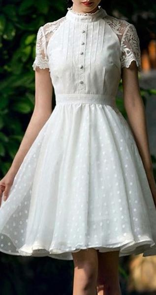 sheer dot retro dress … | Vestidos vintage, Vestidos românticos .