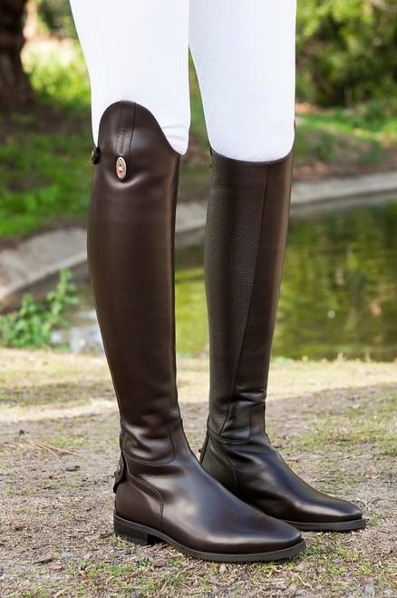 Secchiari Bull Leather Dress Boots- Riding Boo