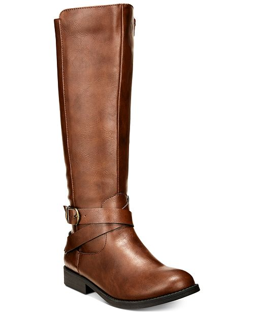 Style & Co Madixe Wide-Calf Riding Boots, Created for Macy's .