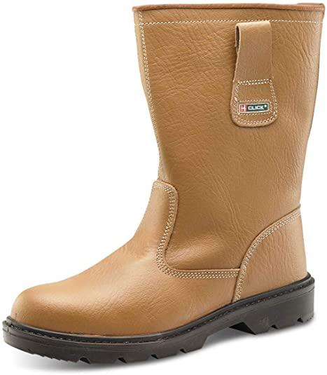 Amazon.com | B CLICK Mens Fur Lined Rigger Boots Boys Leather .