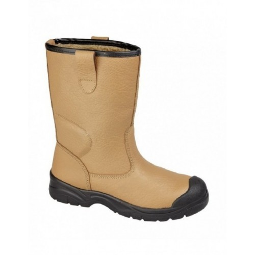 GRAFTERS M239BSM Tan Leather Scuff Toe Cap Safety Rigger Boots | eB