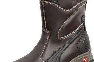 Amazon.com | PUMA Safety Brown Mens Leather Rigger EH WP Comp Toe .