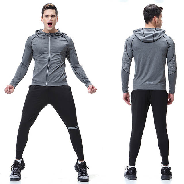 Online Shop Mens Sportswear 2pieces tracksuits Running Clothes .