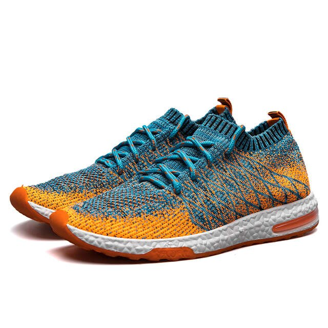 Breathable Mesh Summer Running Shoes for men Cushioning sneakers .