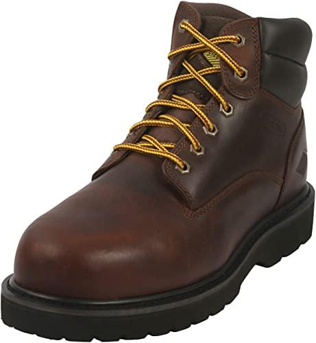 Amazon.com: 6 Inch Non Slip Steel Toe Work Boots for Men .