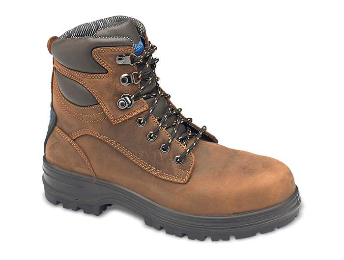 Men's or Women's Brown Premium Leather Lace-up Boots, Style 143 .