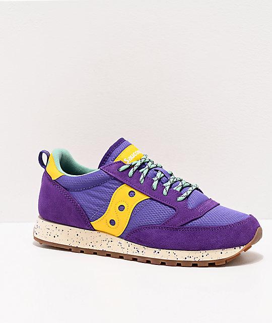 Saucony Jazz Original Climbing Purple & Yellow Shoes | Zumi