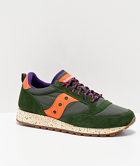 Saucony Jazz Original Climbing Green & Orange Shoes | Zumi