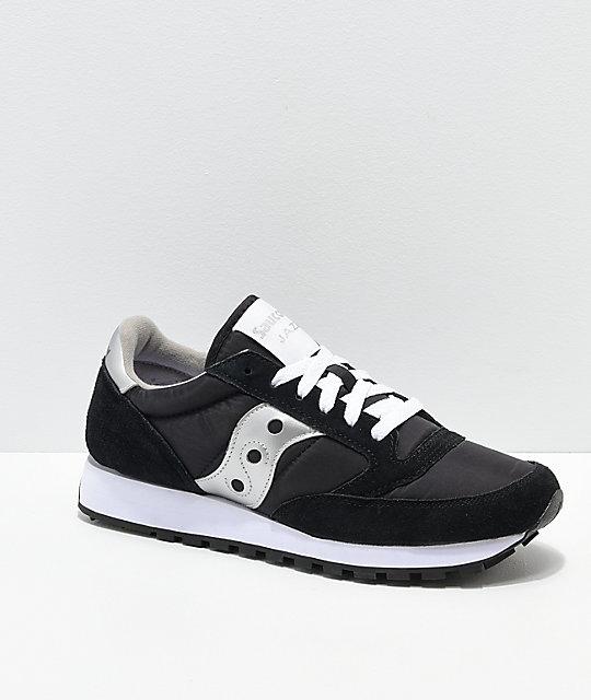 Saucony Jazz Original Black & Silver Shoes | Zumi