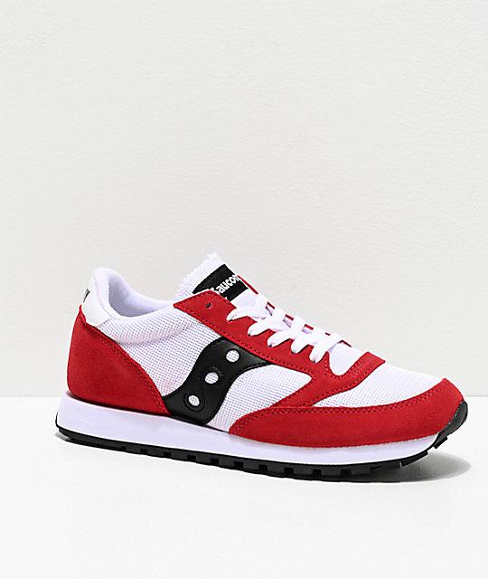 Saucony Jazz Original Vintage Red, White & Black Shoes | Zumi