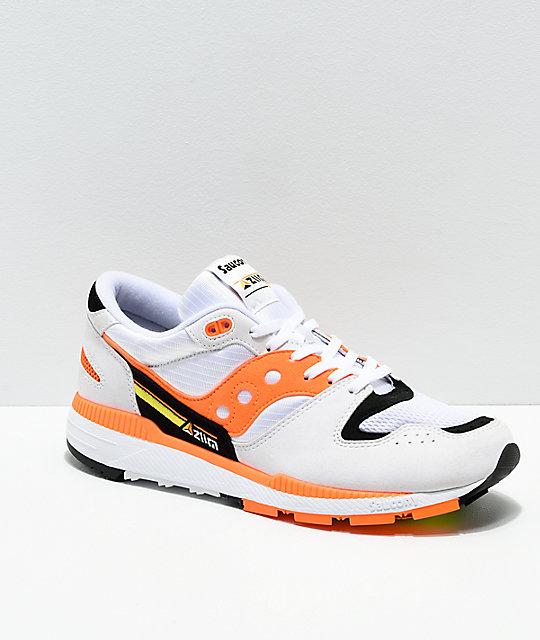Saucony Azura White, Orange & Black Shoes | Zumi