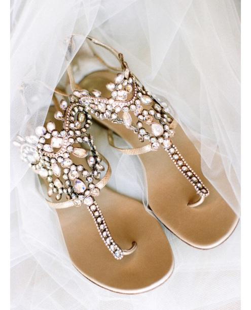 shoes, bridal, jewels, boho bride, flat sandals, flats, boho .