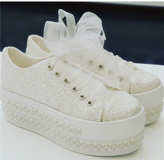 Wedding Sport Shoes, Wedding Shoes, Bridal Sneakers, Bling Shoes .