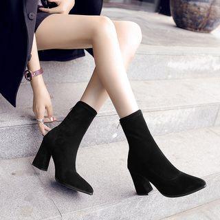 FiE FiE Chunky-Heel Short Boots | YesSty