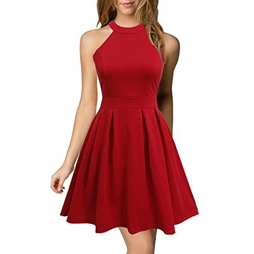 Red Short Dresses: Amazon.c