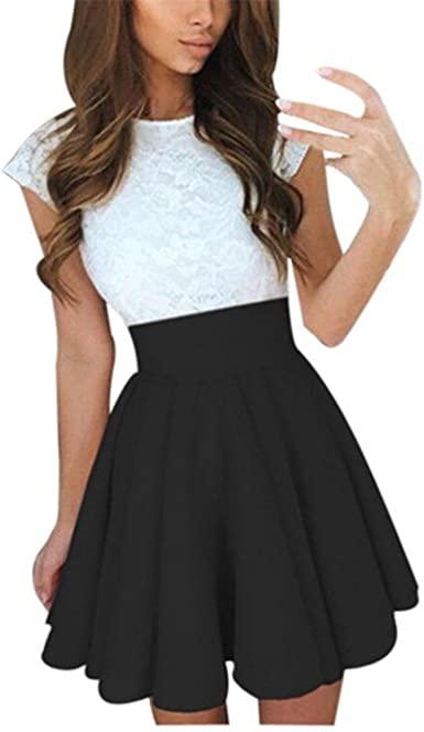 Amazon.com: KMG Kimloog Womens Lace Party Cocktail Mini Dress .