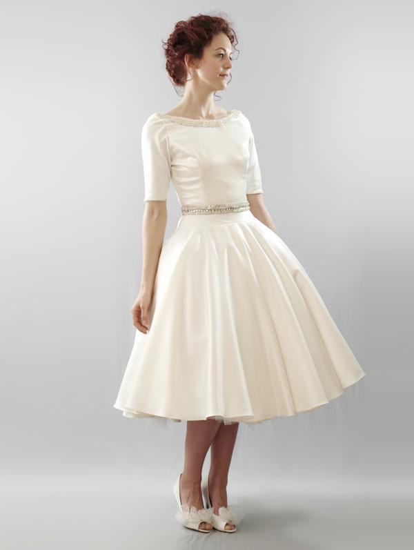 Vintage Ivory Short Wedding Dresses - Styles of Wedding Dress