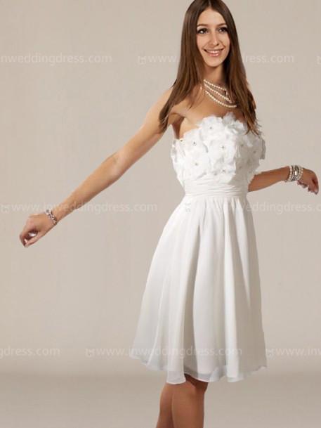 Simple Short Wedding Dresses BC575 | InWeddingDre