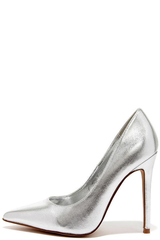 Silver Pumps Shoes